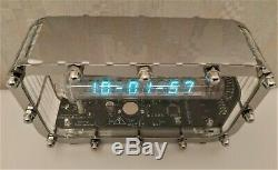 100% ASSEMBLED Ice tube clock IV-18 VFD nixie steampunk Adafruit clock vintage