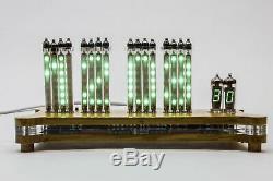 16x VFD IVLM1-1/7 Dot Tubes Matrix Desk Clock Scrolling text NIXIE ERA