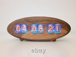 2021 Walnut Series by Monjibox Nixie Clock IN12 tubes