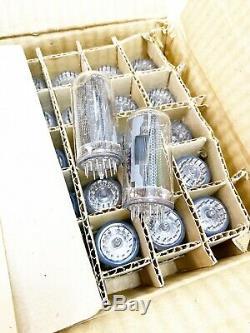 25x IN-18 SOVIET BIGGIEST NIXIE CLOCK NEON DIGIT TUBE NOS
