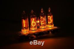 3-6 days delivery to USA Nixie tube clock IN-14 Amber US power adapter included