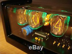 4xIN-12 Nixie Tubes Clock led backlight and alarm steampunk vintage retro watch