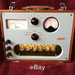 6 Tube Nixie Clock within Bridge Megger Testing set