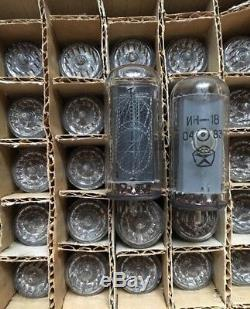6 pcs IN-18 (-18) THE BIGGEST NIXIE TUBES FOR NIXIE CLOCK. NEW. Fast delivery