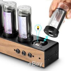 6-stellige Röhrenanzeigen Gixie-Uhr Retro-Nixie-Röhrenuhr Nixie Tube Clock LED