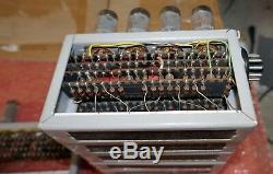 7 vintage Beckman tube decimal counting units, Nixie era make a nice clock