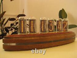 Admiral Nixie Clock with largest Russian NOS IN18 tubes brass Monjibox