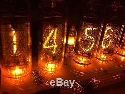 Assembled Nixie Tubes Clock and Calendar. Desk Clock Vintage IN-14 Soviet Gift