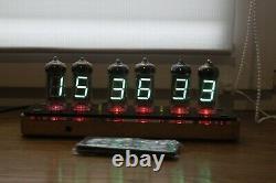 Assembled vfd clock IV-11 Nixie tube clock Steampunk Retro Cyberpunk desk clock