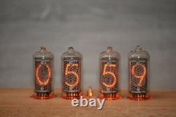 AstronimasContemporary Nixie Tube Clock IN-8 Vintage Retro Handmade Beech Wood