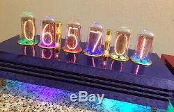 BLUE Ferrari Admiral Monjibox Nixie Clock large IN18 tubes WiFI NTP remote