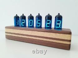 Blue Cake IV11 VFD Alarm Clock Wi-Fi NTP perfect sync by Monjibox Nixie