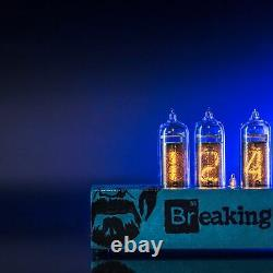 Breaking Bad Nixie Tube Clock IN-14 Replaceable Nixie Tubes, Motion Sensor