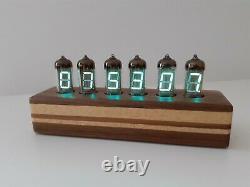 Cake model IV11 VFD blue tubes Alarm Clock by Monjibox Nixie