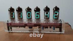 Chameleon VFD Clock IV11 tubes with Wi-Fi Sync Monjibox Nixie