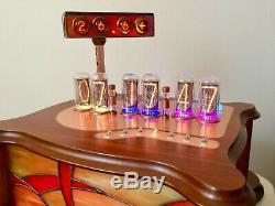 Clarissa design by Monjibox Nixie Clock IN18 tubes GN4 thermometer hygrometer