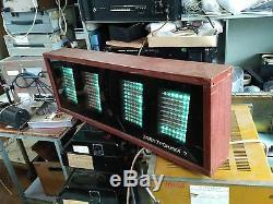 Clock Nixie Vfd Tube Elektronika 7-06k Huge Ussr Soviet Wooden Wall