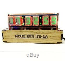 DIY Handmade made on ITS1A ITS-1A ultrarare nixie tubes clock Wi-Fi Multifunc