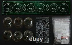 DIY KIT IN-4 Nixie Tubes Clock with options 12/24H Slot Machine BLACK BOARDS