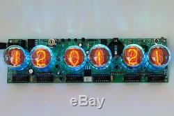 DIY KIT SONYA NIXIE IN-4 Tubes Desk Clock + Case + Power Supply + Remote + RGB