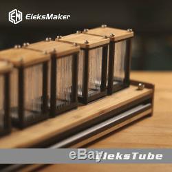 Digital Clock NIXIE Tube Clock Kit DIY Electronic Retro 6-Bit RGB LED Glow Clock