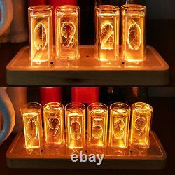 Digital RGB LED Tube Clock Home Décor Alarm Clock NO Vintage Nixie Tube Clock
