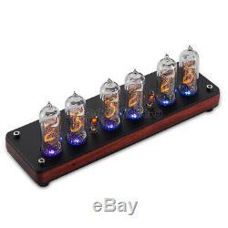 Douk Audio IN-14 Nixie Röhrenuhr Digital Retro Wooden Tube Clock Alarm/Remote