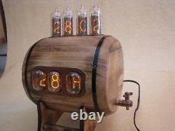 Dual Display Combo Clock Thermometer Hygrometer Nixie Clock with IN12 IN14 Tubes