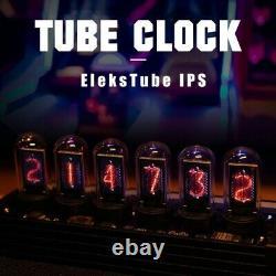 Electronic Eleks Tube RGB Retro Desk Glows LED Nixie Tube Clock KIT Type-C