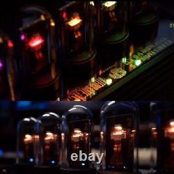 EleksTube IPS 10 Bit RGB Nixie Tube Electronic LED Glows Desk Clock Kit 5V-0.45A