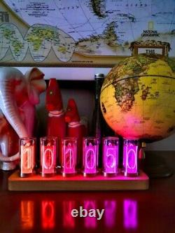 EleksTube IPS RGB Nixie Tube Clock Glow Tube Clock Customized Dial Styles Gift