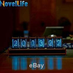 Elekstube Retro Desk Clock Glow Digital Clock Nixie Tube Kit DIY Electronic