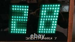 Elektronika 7 Soviet Ussr Vintage Digital Nixie Tube Wall Clock