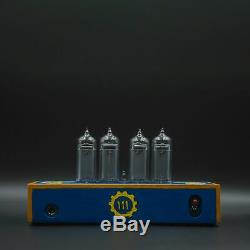 Fallout Nixie Tube Clock IN-14 Replaceable Nixie Tubes, Motion Sensor, Assembled