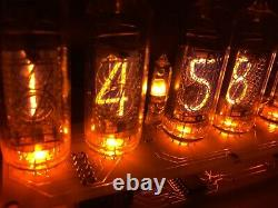 Fully assembled nixie tube clock in16 power supply includet with calendar