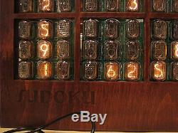 HUGE Nixie Display Clock SUDOKU NIXIE game IN12 tubes by MONJIBOX