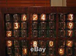 HUGE Nixie Display Clock SUDOKU NIXIE game IN12 tubes by MONJIBOX custom project