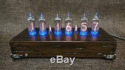 Handmade Retro Nixie Tube Clock With Easy Replaceable IN-14 Russian Tubes