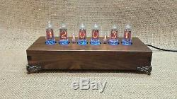 Handmade Vintage Style Nixie Clock With Removable Z573M German Nixie Tubes #2