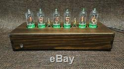 Handmade Wooden Nixie Tube Clock With Easy Replaceable Z573M German Tubes #2