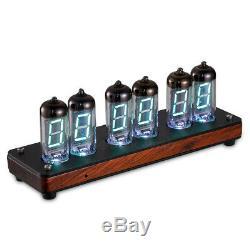 Home Retro IV-11/-11 Valve VFD Nixie Tube Clock Date/Temp/GPS/Alarm Upgraded