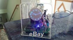 Homemade Mini Oscilloscope Clock 6Lo2A blue CRT Cathode ray tube Scope Nixie