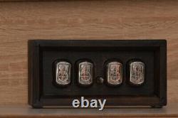 IN-12 Box Retro Vintage Nixie Tube Clock. Handmade Walnut