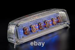 IN-12 Nixie Tubes Clock in Acrylic Case 12/24 SloteMachine WITH SOCKETS GRA&AFCH