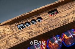 IN-12 Nixie Tubes Clock in Brushed Oak Case GRA&AFCH UPS FAST DELIVERY 3-5 days