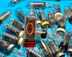 IN-14 -14 IN14 GAZOTRON. Nixie indicator tubes for clock. New. Tested. Lot 160 pcs
