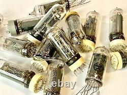 IN-14 -14 IN14 GAZOTRON. Nixie tubes for clock. Used. Lot 50 pcs