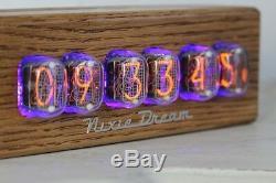 IN-14-6 NIXIE TUBE CLOCK ASSEMBLED REMOTE CONTROL ASH CASING by NIXIE DREAM