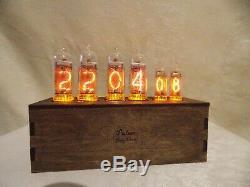 IN-14+IN-16 Nixie Tube Clock vintage PulSar-NEW model-Rgb backlight RetroClock
