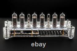 IN-14 Nixie Tubes Clock Acrylic Case with Temperature Sensor F/C WHITE BOARD